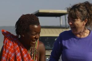 Leteipa, my Maasai friend & I, sharing a laugh in the Maasai Mara