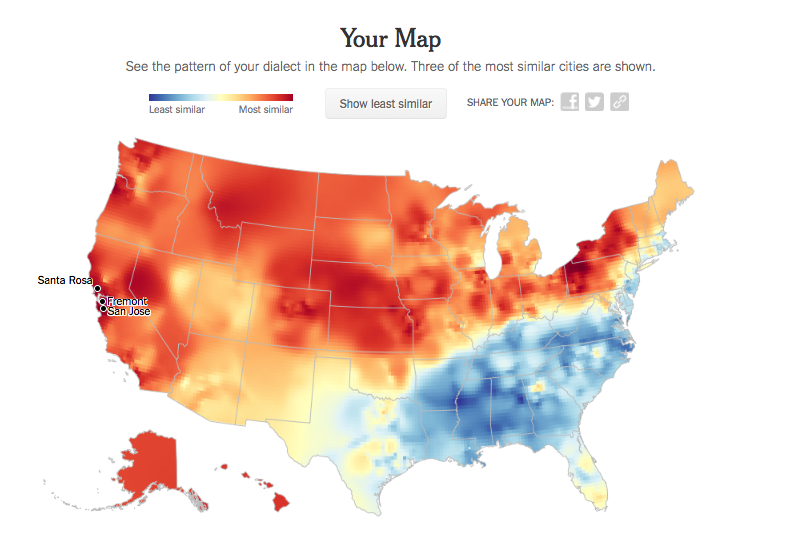 US Dialect mapping my map