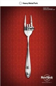 Hard rock cafe fork creative ad