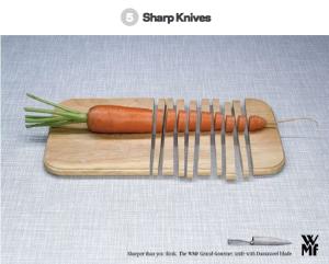 Sharp knife creative ad