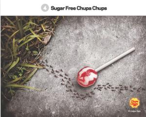 Sugar free creative ants ad