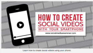 Social videos with smart phone